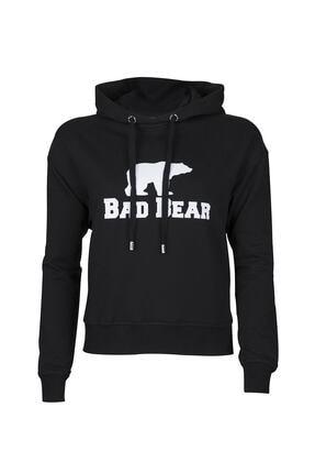 Bad Bear Kadın Crop Sweatshirt Siyah 20.04.12.007 1