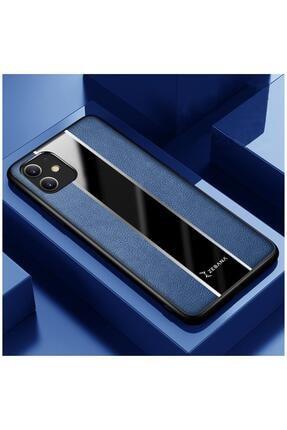 Dara Aksesuar Iphone 11 Uyumlu Mavi Premium Deri Telefon Kılıfı 0