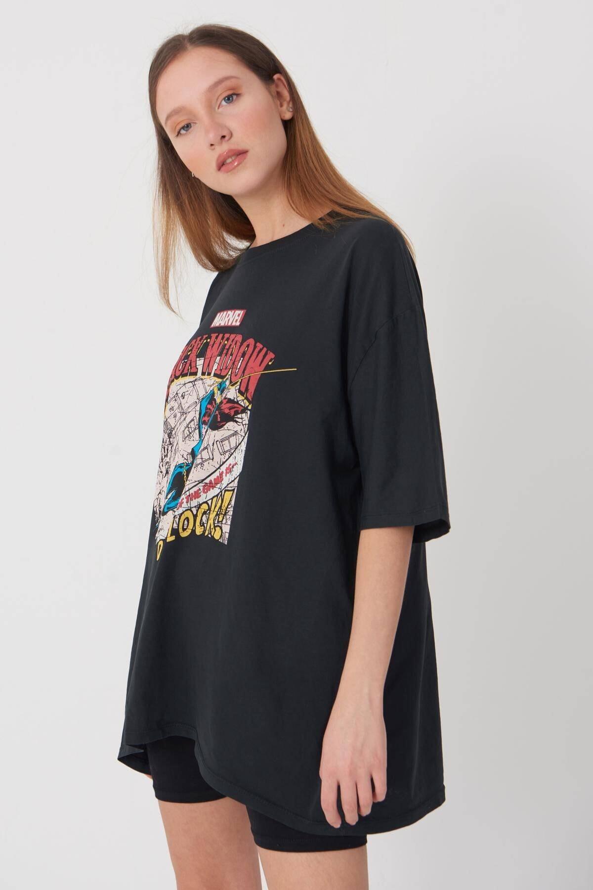 Addax Baskılı T-shirt P9396 - C11 2