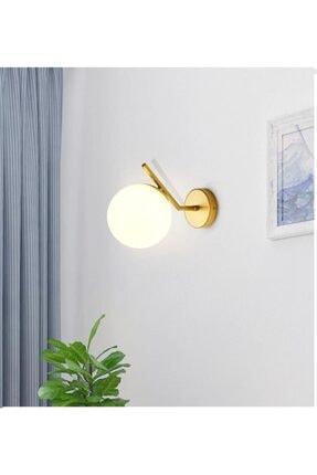 Sinem Avize Soho Modern Altın Renk Boyalı Duvar Lambası Aplik 0