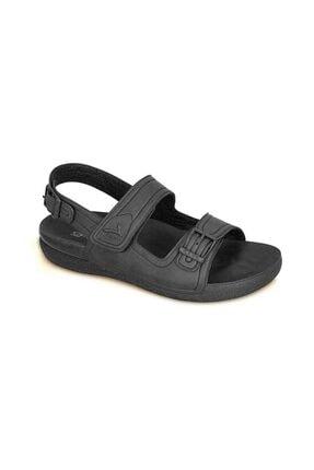 Ceyo Kadın Siyah Sandalet 1300 4 0