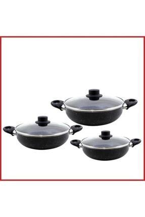 PİERLOTTİ Granit Nergis Series 6 Prc Sahan Set (18-20-22cm) 0