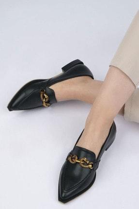 Marjin Kadın Siyah Loafer Ayakkabı Tolira 3