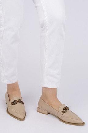 Marjin Kadın Bej Loafer Ayakkabı Tolira 3