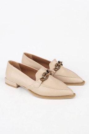 Marjin Kadın Bej Loafer Ayakkabı Tolira 4