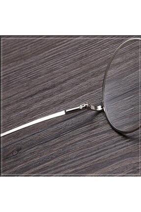 Retro Unisex Yuvarlak Şeffaf Gözlük 3
