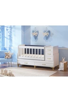 temosan mobilya Yataklı 5 Çekmeceli Büyüyen Beşik-sallanan & Sabitlenebilen Beşik 0