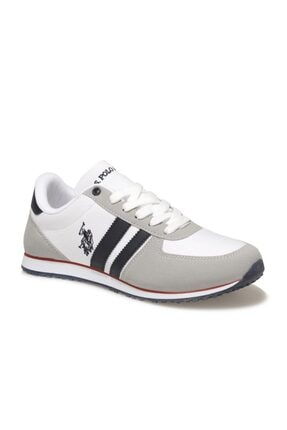 US Polo Assn Erkek Beyaz Mesh Comfort Casual Sneaker Ayakkabı 0