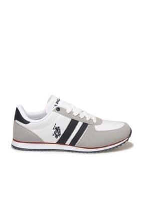 US Polo Assn Erkek Beyaz Mesh Comfort Casual Sneaker Ayakkabı 1