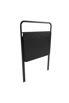 Tedarikcenter Laptop Masası Katlanabilir Çalışma Masası Koltuk Sehpası 52x41 Cm Masa - Siyah 2