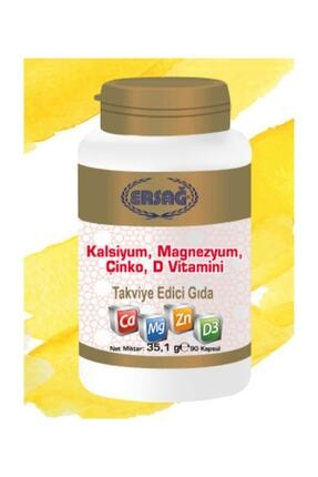 Ersağ Kalsiyum, Magnezyum, Çinko, D Vitamini Hızlı Kargo, Yeni Tarihli Orjinal Ürün 0