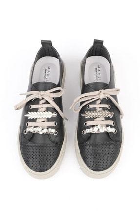 Marjin Kadın Siyah Sneaker Ayakkabı Dalis 0