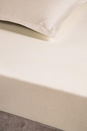 Pierre Cardin Penye Lastikli Çarşaf King Size 180x200 cm Ekru 2