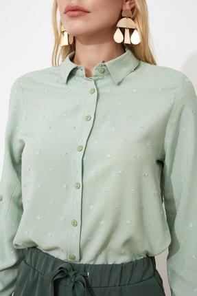 TRENDYOLMİLLA Mint Dokulu Kumaşlı Basic Gömlek TWOSS20GO0241 2