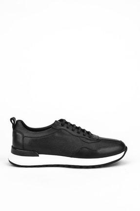 Picture of , Erkek Hakiki Deri Sneaker 111304 1491z Sıyah