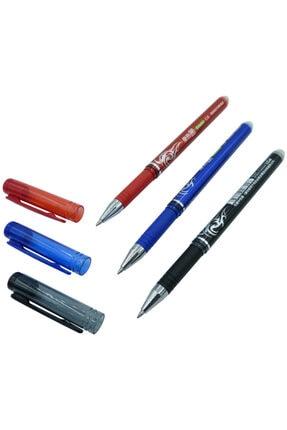 Kuki Silinebilir Ve Isıyla Uçan Jel Tükenmez Kalem Siyah+kırmızı+mavi Set 1