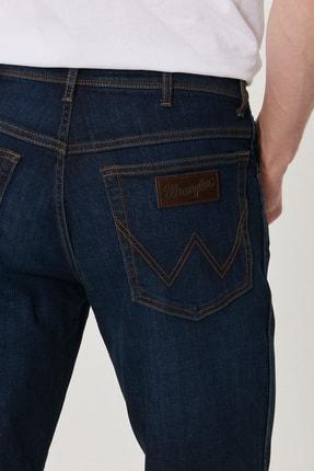 Wrangler Texas Slim Erkek Koyu Mavi Slim Normal Bel Dar Paça Esnek Jean Pantolon 3