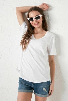 LC Waikiki Kadın Optik Beyaz LCW Casual Tişört 1