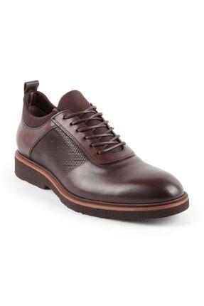2999 Kahve Erkek Hakiki Deri Günlük Ayakkabı resmi