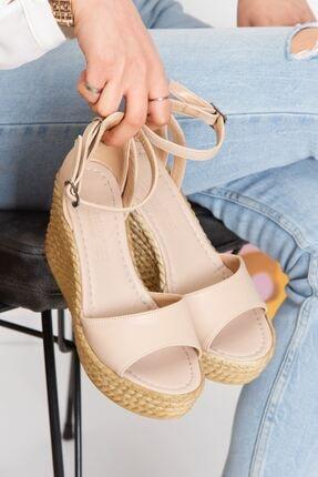 derithy Kadın Ten Vinle Dolgu Topuklu Ayakkabı -ten-lzt0590 1