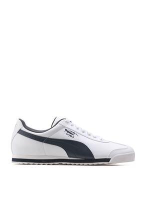 Puma ROMA BASIC Beyaz Lacivert Erkek Sneaker 100126098 0