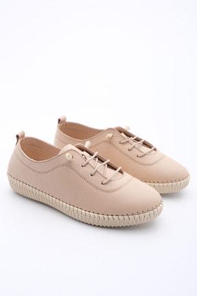 Marjin Kadın Bej Hakiki Deri Comfort Ayakkabı Ritok 2