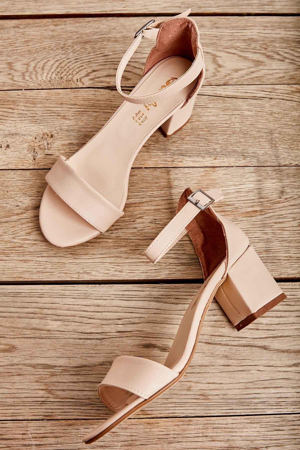 Pudra Kadın Klasik Topuklu Ayakkabı K01503724009