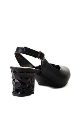 Bambi Siyah Kadın Klasik Topuklu Ayakkabı K01688071109 3