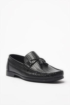 Hotiç Hakiki Deri Siyah Loafer Ayakkabı 02AYH206160A100 1
