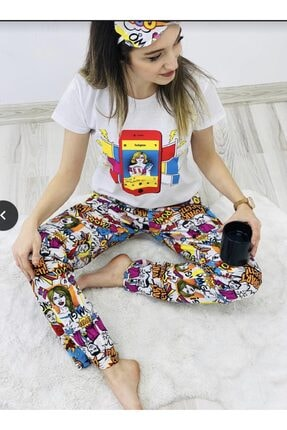 Pijama Takımı Pijama beyaz