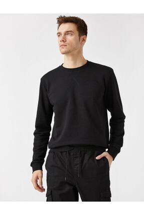 Koton Erkek Pamuklu Basic Bisiklet Yaka Uzun Kollu Sweatshirt 1