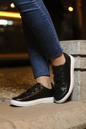 tomms Kadın Bağcık Lastik Detaylı Sneaker Spor Ayakkabı Lona-55 1