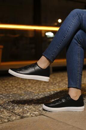 tomms Kadın Bağcık Lastik Detaylı Sneaker Spor Ayakkabı Lona-55 2