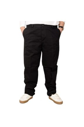 تصویر از Büyük Beden Erkek Gabardin Pantolon 21002 Siyah