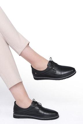 Marjin Kadın Siyah Hakiki Deri Comfort Ayakkabı Demas 2