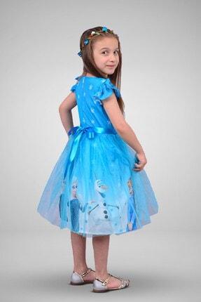 Mnk Kız Çocuk Mavi Karlar Ülkesi Elbisesi 2