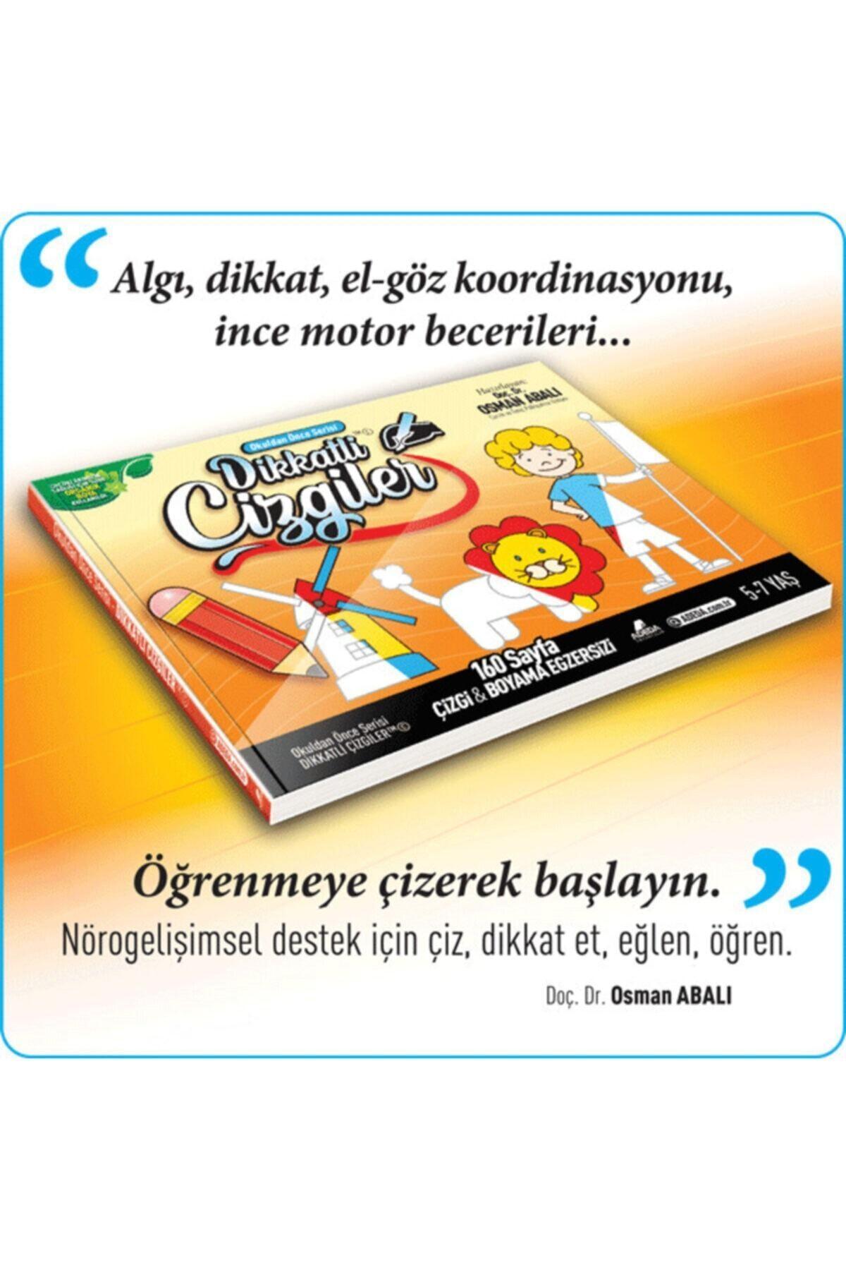 Adeda Yayınları Adeda Okuldan Önce Serisi-dikkatli Çizgiler 5-7 Yaş Dikat Seti