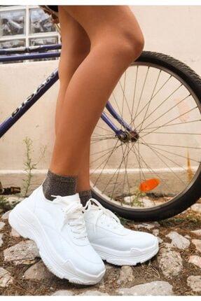 Erbilden Jare Beyaz Cilt Spor Ayakkabı 3