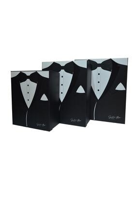 Duru Çeyiz Sandıkları Siyah Smokin Modelli Damat Kutu 0
