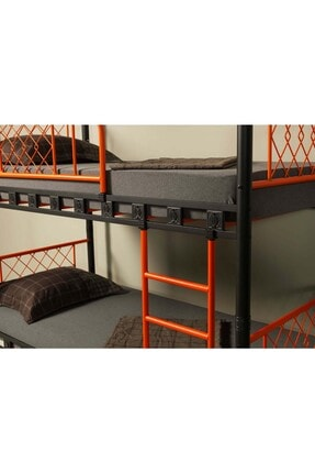 ARGİMO Ranza Metis 90x190 Genç Çocuk Yatak Odası Metal Ranza Ve Karyola 4