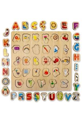 Depomiks Avm Ahşap Eğitici Alfabe Puzzle Ahşap Bultak Yapboz Okul Öncesi Oyuncak 1