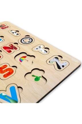 Depomiks Avm Ahşap Eğitici Alfabe Puzzle Ahşap Bultak Yapboz Okul Öncesi Oyuncak 2