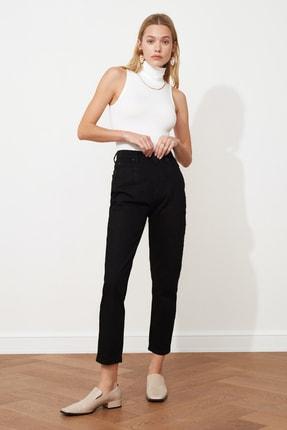 TRENDYOLMİLLA Siyah Yüksek Bel Mom Jeans TWOAW20JE0129 0