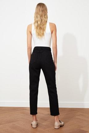 TRENDYOLMİLLA Siyah Yüksek Bel Mom Jeans TWOAW20JE0129 4