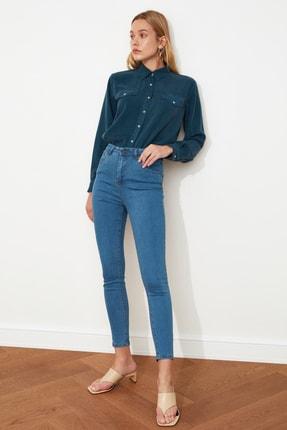 TRENDYOLMİLLA Mavi Yüksek Bel Skinny Jeans TWOSS20JE0301 1