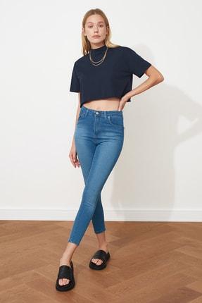 TRENDYOLMİLLA Mavi Yüksek Bel Skinny Jeans TWOSS20JE0302 0