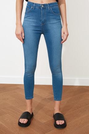 TRENDYOLMİLLA Mavi Yüksek Bel Skinny Jeans TWOSS20JE0302 3
