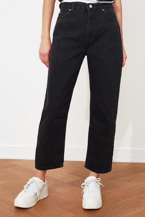 TRENDYOLMİLLA Antrasit Yüksek Bel Boyfriend Jeans TWOAW21JE0106 3