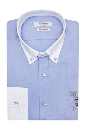 Erkek Mavi Regular Fit Gömlek 0HC02HDOXP02