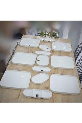 ACAR Bone Porselen 26x10 Cm 2'li Kahvaltılık-çerezlik 10339 1
